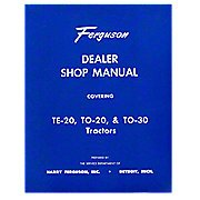 (REP090 New Massey Ferguson MF Tractor Dealer Shop Manual TE20 TO20 TO30)