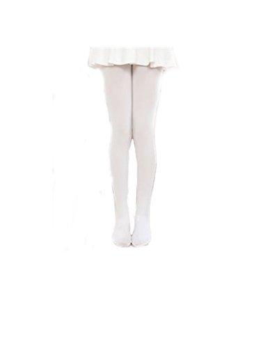 ragazza danza calzini bianco beige color carne M(100-120) Swallowuk bambini collant 80d velluto