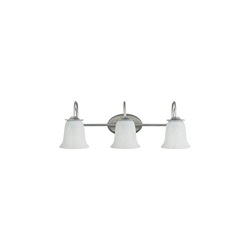 Sea Gull 44893-57 Plymouth 3-Light Weathered Pewter Vanity Fixture