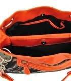 Borsa A Tracolla Moda Arancione Camo Con Strass