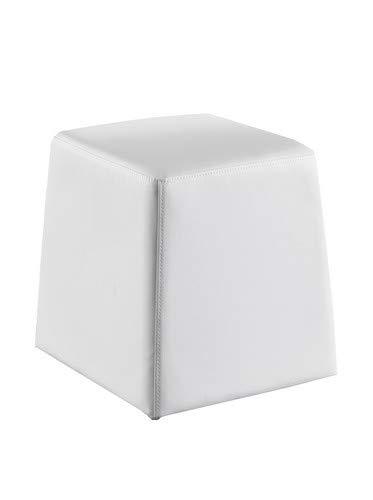 Huntsville Wink design Bianco Finta Pelle Pouf