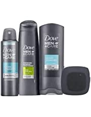 Dove Men +Care Daily Care Gift Set with Bluetooth Speaker, 2 in 1 Shampoo, Shower Gel, Antiperspirant - Christmas Gift Set for Men