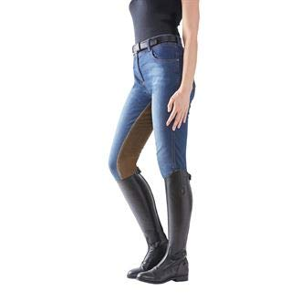 Goode Rider Ladies Equestrian Jean Full-Seat Breech, Size 30, Vintage Wash ()