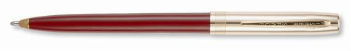 Fisher Cap-O-Matic S200 Brass Cap W/Burgundy Barrel Ballpoint Pen - S251G-BU