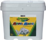 Crayola; Model Magic; White Modeling Compound; Art Tools; 2 lb. Resealable Bucket; Perfect for Classroom Art Activities