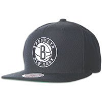Mitchell & Ness The Brooklyn Nets Standard Logo Snapback Cap in Black from Mitchell & Ness