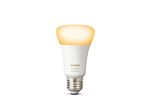 Philips A19 E26 10.5W Hue White Ambiance Yellow Light Bulb