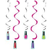 Club Pack of 30 Sparkle Spa Party! Assorted Dizzy Danglers Hanging Party Decorations 32''