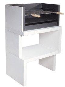 Barbacoa de Obra máximo diseño y calidad,De hormigón bruto hidrófugo blanco y negro 116x78cm
