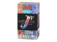 JVC Hi-Fi VHS Tapes (T120KL4P) (T120KL4P)