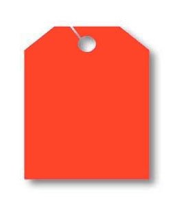 Donkey Auto Products Car Mirror Hang Tags - Jumbo Fluorescent (50 per Pack) (Blank, Fluorescent Orange)
