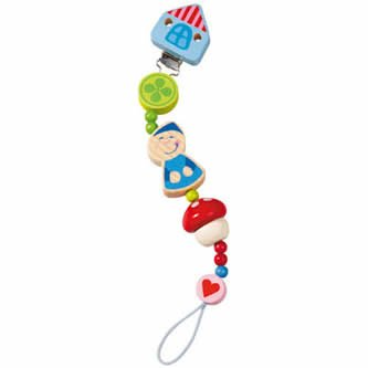 Pixies World Pacifier Chain with Nickel-Free Clip ()