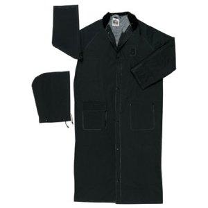Classic Plus Rider Raincoats (River City Classic Plus Rider Rain Coat, 0.35 mm PVC/Polyester, Black, 49 in X-Large)