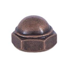B&P Lamp Antique Brass Cap Nut 8/32
