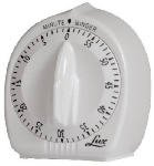 - Lux FBA_CP2428-59 Minute Minder Timer Mechanical White with Black Markings 60 Min