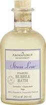 AromaFloria Aromatherapy Stress Less Foaming Bubble Bath with Lavender Chamomile and Sage, 9 fl. oz.