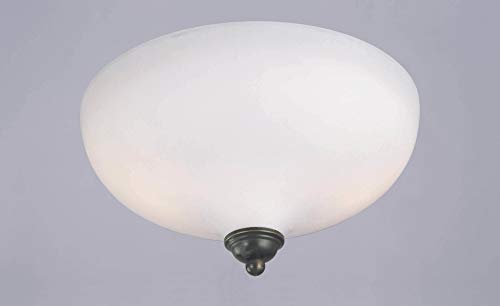 - Westinghouse Lighting 6657500 2-Light Flush-Mount Interior Ceiling Fixture, Burnished Bronze Patina Finish with Frosted White Opal Glass