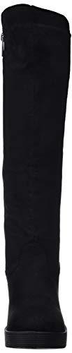 Negro Bottes Hautes Mtng Lycra Femme C43413 Noir 57460 antil wTPFY