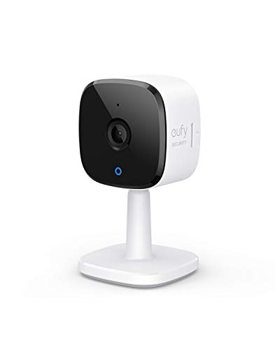 eufy Security 2K Indoor Cam, Plug-in Security Indoor Camera with Wi-Fi, IP Camera,Human and Pet AI, Works with Voice Assistants, Night Vision, Two-Way Audio, HomeBase Not Required