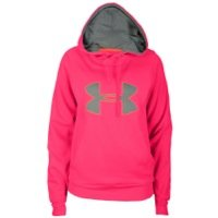 Under Armour Armour Fleece Storm Big Logo Hoody - Women's Pinkadelic/Electric Tangerine/True Gray Heather XS