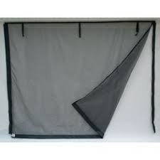 1 Car Single Garage Door Screen 7' x 8' Bug Insect Pest Black TV Easy Entry NEW by United States