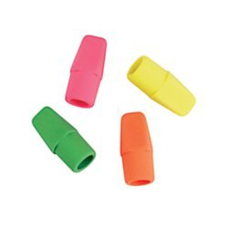 (Office Depot(R) Brand Neon Eraser Caps, Assorted Colors, Pack of 12)