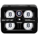 Detroit Tigers 4 golf Balls tin gift Set. Includes 4 logoed golf Balls - Divot Tool and Logoed Ball Marker