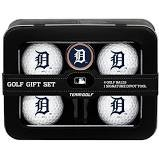 Detroit Tigers 4 golf Balls tin gift Set. Includes 4 logoed golf Balls - Divot Tool and Logoed Ball Marker