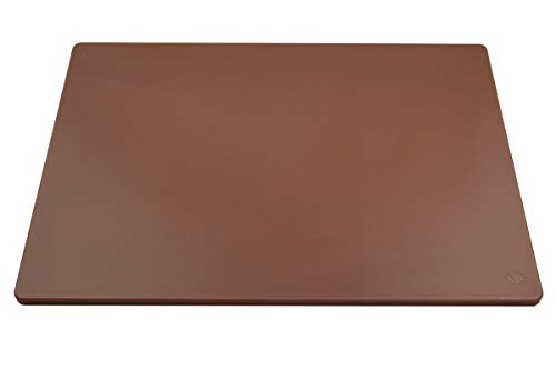 Professional Plastic Cutting Board, HDPE Poly for Restaurants, Dishwasher Safe and BPA Free (24 x 18 x 0.5, Brown)