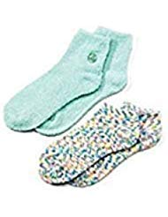 Earth Therapeutics 2-Pack Super Plush Aloe Moisture Socks (Green)
