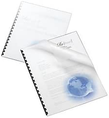 Office Depot Designer Poly Covers, 8 1/2in. x 11in, Globe, Pack of 25, 25874