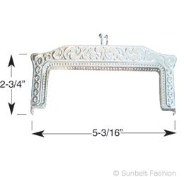 On Vintage Purse Frame C19 With Sew On Holes And Pop Out Loops For Fashion Chain. (Gold) by Sunbelt Fasteners