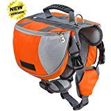 Lifeunion Adjustable Service Dog Supply Backpack Saddle Bag for Camping Hiking Training(Orange,Medium) (Best Training For Hiking)