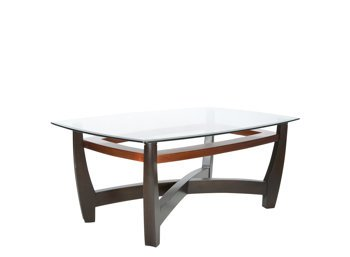 Nice Elation Glass Cappuccino Copper Coffee Table