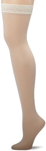 (Hanes Women's Silk Reflections Thigh Highs, Pearl, E/F)