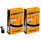 Continental 60mm Presta Valve Bicycle Tube Pack of 2 (700 x 18-25) ()