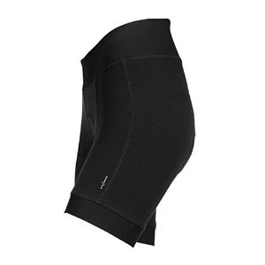: Shebeest Womens Clothing - SHEBEEST Pre-Dyed Black/Plus Shorts with Shelastic 1.0 Pad (Medium)