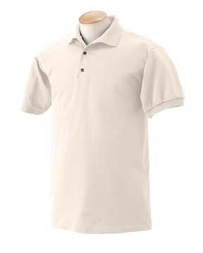 Gildan 6.1 oz. Ultra Cotton Jersey Polo, Sand, S -
