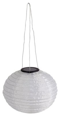 Four Seasons DHO005-R2-BB-A1 White Solar Powered Chinese Hanging Lantern - Quantity 4 -