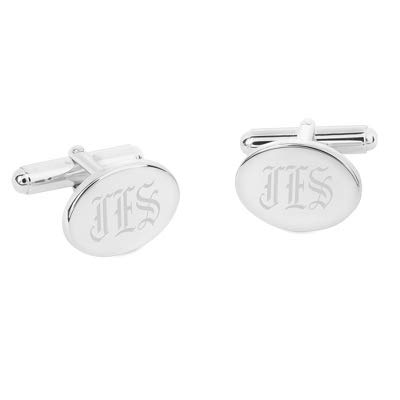 Things Remembered Personalized Sterling Silver Oval Cuff Links with Engraving Included by Things Remembered (Image #2)