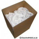10 Pounds of New White Lint Free Cotton Wiping Cleaning Rags by Trademark Supplies