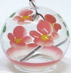 Japanese Handmade Wind Chime with Pink Blossoms by NIHON ICHIBAN