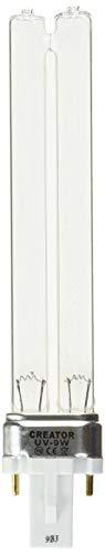 Tech'n'Toy SunSun 9 Watt UV Replacment Bulb G23 2 Pin Base for JUP-01, HW-303B, HW-304B, CF400UV, CF500UV (Canister Hw303b)