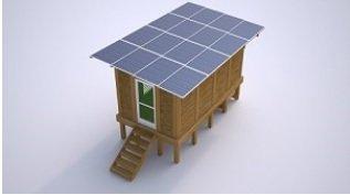 Shutter Module - Solar Roof Shelter Kit, Waterproof 3.86KWp Crystaline Modules, Battery Backup, Tropical Shutter Design