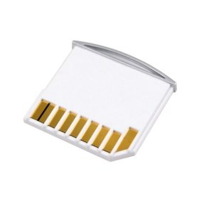 CY Micro SD TF to SD Card Kit Mini Adaptor for Extra Storage Macbook Air / Pro / Retina White Color Extra Memory
