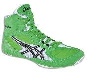 ASICS Men's Cael V5.0 Wrestling Shoe,Electric Green/Black/White,9 M US