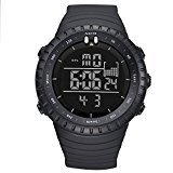 LIGE Men's Military Waterproof Sports Watches Electronic Multifunction Alarm Digital Quartz Wristwatch