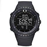 LIGE Men's Military Waterproof Sports Watches Electronic Multifunction Alarm Digital Quartz Wristwatch