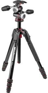 MK190GOA4-3WXUS Renewed Manfrotto 190 Go M-Series Aluminum Kit 4-Section with 3-Way Head