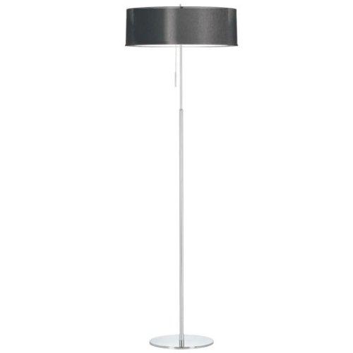 Dainolite MEL-20FL-PC-BK 2 Lite Polished Chrome Floor Lamp with Double Shade Black & White (20 Fl Lamp)